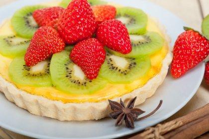 Tartelettes aux fraises et aux kiwis