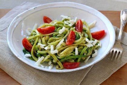 Spaghettis courgettes basilic