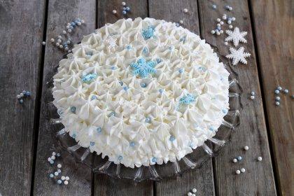Gâteau inspiré de la Reine des Neiges