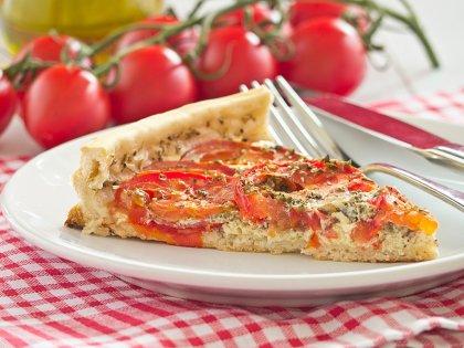 Tarte à la tomate et au thym