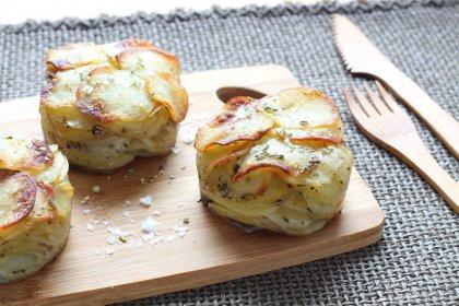 Petits mille-feuilles de pommes de terre