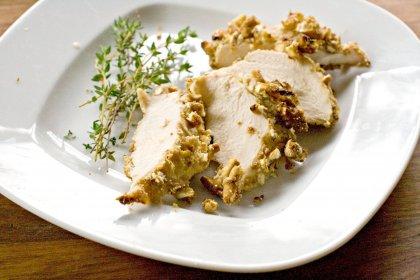 Poulet croustillant bretzels et noisettes