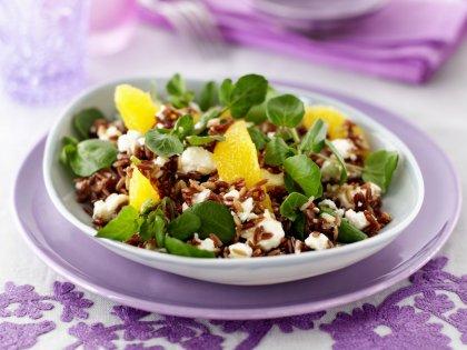 Salade de riz rouge aux agrumes
