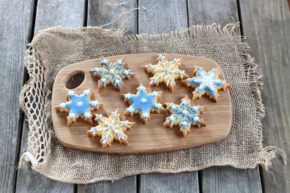 Biscuits inspirés de la Reine des Neiges