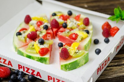 Pastèque façon pizza