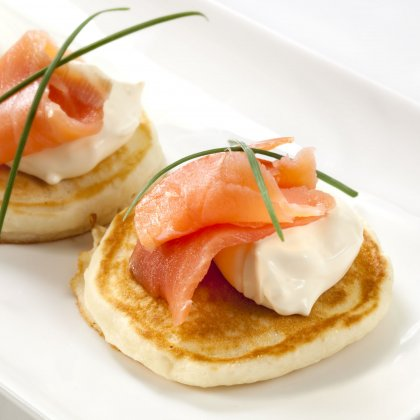 Blinis au saumon