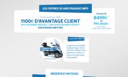 Piaggio MP3 500 : promo spéciale 10 ans