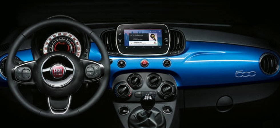 La Fiat 500 adopte CarPlay et Android auto