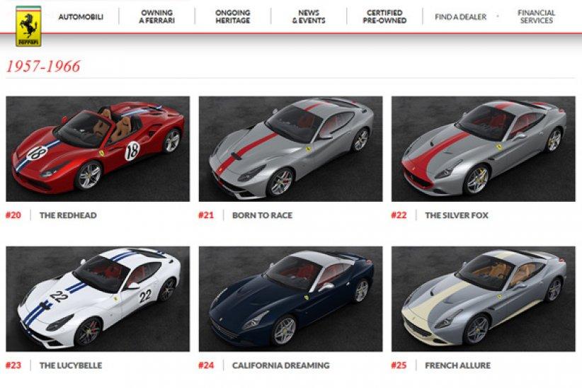 Ferrari : les livrées anniversaire