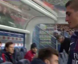 PSG-OM : Marco Verratti énervé contre Unai Emery après son remplacement