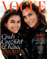 Cindy Crawford pose en couverture de Vogue Paris avec sa fille