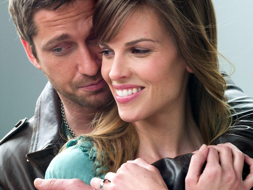 Gerard Butler et Hilary Swank dans P.S. I Love You