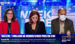 Vaccin: Un million de rendez-vous pris en 24h - 15/01