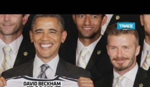 Sporty News: Barack Obama titille David Beckham