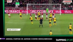 Zap Sport 18 avril : Arsène Wenger et Arsenal l'emportent de justesse contre le relégable Middlesbrough (vidéo)