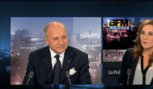 BFM Politique : l'interview de Laurent Fabius par Charlotte Chaffanjon - 10/02