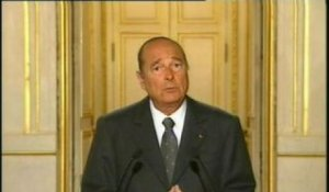 SONORE DECLARATION JACQUES CHIRAC