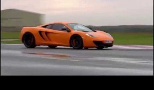 McLaren 12C Spider in Orange on the Track | AutoMotoTV