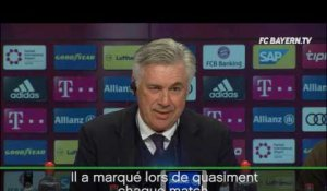 "26e j. - Ancelotti : ""J'ai la chance d'avoir Lewandowski"""