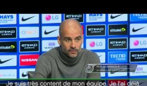 29e j. - Guardiola : ''City va encore progresser''