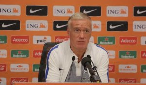 Qualifs CM 2018    Pays Bas - France: conférence d'avant match de Didier Deschamps