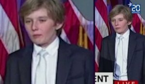 Donald Trump élu, son fils Barron s'endort