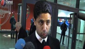 Arsenal / PSG - La reaction de Nasser Al-Khelaïfi