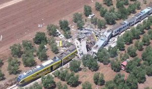 Images impressionnantes de l'accident de trains en Italie