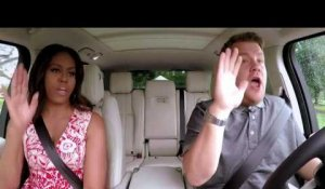 Quand Michelle Obama monte dans la voiture de James Corden