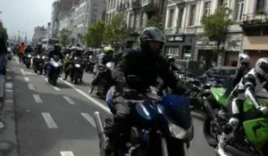 Manifestation de motards à Bruxelles