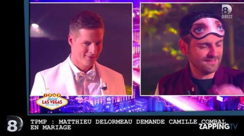 TPMP  Matthieu Delormeau demande Camille Combal en mariage (vidéo)