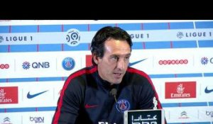 Ligue 1  Paris SG - AS St Etienne: conférence d'avant match de Unai Emery