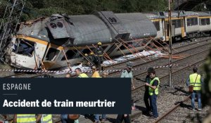 Accident de train meurtrier en Espagne
