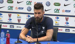 CDM 2018 qualifications - France: conférence de presse de Olivier Giroud