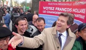 VIDEO Pour Hollande, Montebourg poursuit sa tournée de one-man show