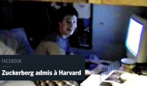Les images de Mark Zuckerberg apprenant son admission à Harvard