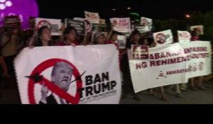 Philippines: manifestations anti-Trump à Manille