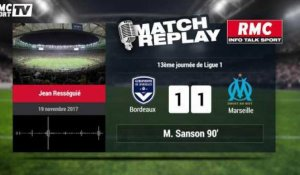 Bordeaux-Marseille (1-1) : le Goal Replay avec le son RMCSPORT