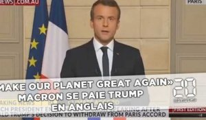 «Make our planet great again», Macron se paie Trump en anglais
