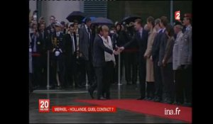 Berlin : premier voyage officiel de François Hollande