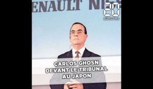 Carlos Ghosn devant le tribunal au Japon