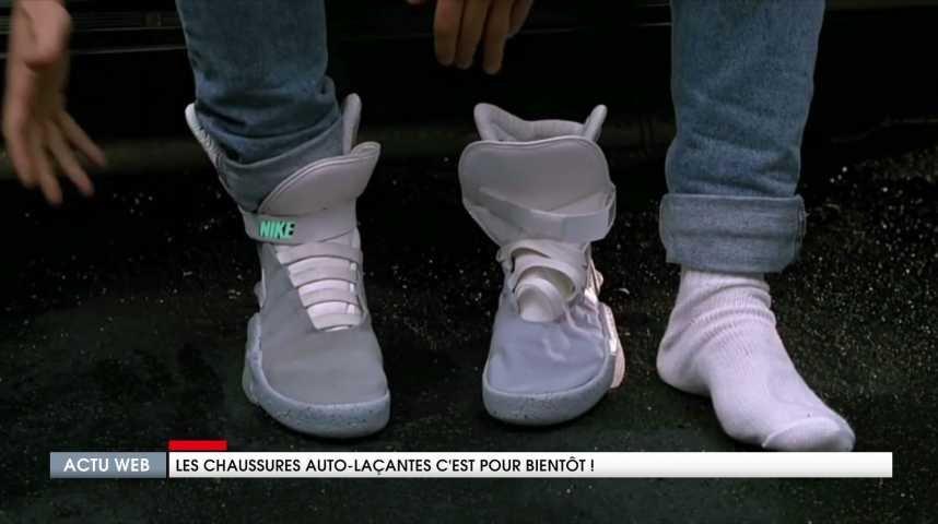 huge selection of 77f43 04c5e Les chaussures auto-laçantes, comme dans le film Retour vers le Futur,  c'est pour bientôt avec Nike !