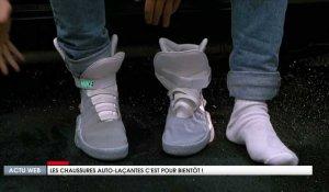on sale 21e88 3c683 Les chaussures auto-laçantes, comme dans le film Retour vers le Futur, c