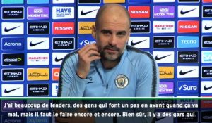 "25e j. - Guardiola : ""J'ai beaucoup de leaders"""