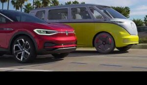 Volkswagen I.D. Family Driving Video in Los Angeles Downtown
