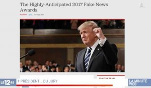 "Donald Trump remet ses prix ""Fake News"" - ZAPPING ACTU DU 18/01/2018"