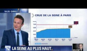 Crue: Paris attend le pic