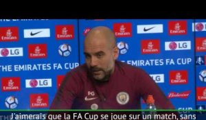 "Guardiola : ""J'aimerais une Cup sans replay"""