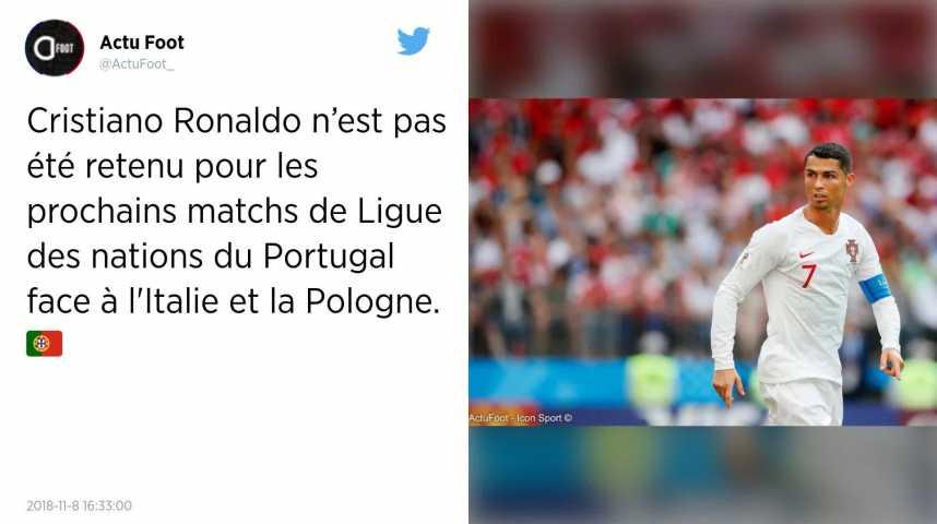 Football Cristiano Ronaldo Toujours Absent De L Equipe Du Portugal