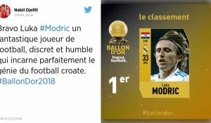 Le Croate Luka Modric remporte le Ballon d'or 2018
